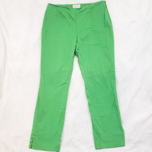 Charter Club Solid Green Cropped Ankle Pants 4P
